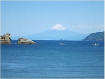 雲見から望む富士山