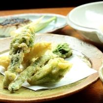 夕食_和食_山菜天ぷら