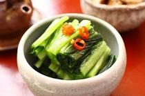 【お漬物】阿蘇といえば高菜。自家製の高菜漬をそろえてお待ちしております