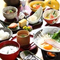 【朝食】自家製と手作りにこだわった朝食をお楽しみ下さい(メニューは一例です)