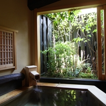 【五岳の湯】ヒノキの香り漂う純和風の貸切風呂