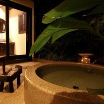 【乙女の湯】アジアンリゾート風の貸切風呂