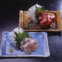 清流魚のお造りなど、新鮮なお刺身を(料理一例)