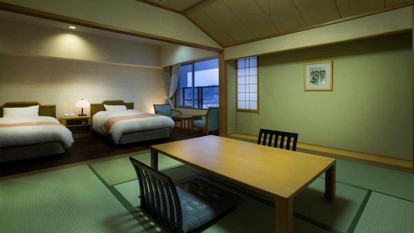 【禁煙】北潟湖を望むゆとりの和洋室