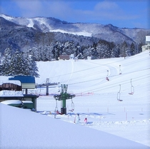 アップかんなべスキー場、中央ゲレンデ内