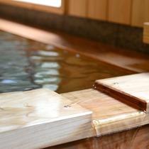 *檜風呂 2016年リニューアル!かけ流しの温泉をたっぷりご堪能ください♪