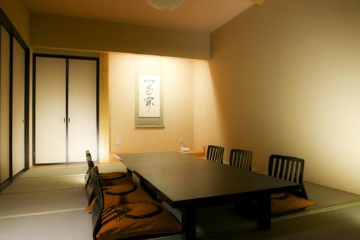 14畳客室天然温泉付き、バリアフリー
