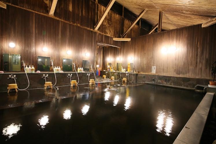 大きな開放感のある天然内風呂です。