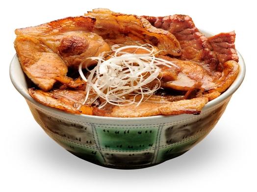 スタミナ!名物あつま豚丼と日帰り入浴プラン(昼食付)