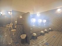 【洗い場】浴場内も広々としております。