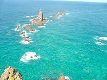 神威岬のシンボル神威岩