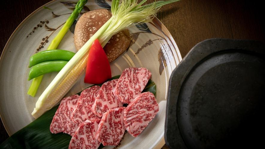 【別注料理】ほてい屋特選牛の石焼き