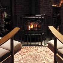 ロビーにある暖炉 ~穏やかな温もりの時間を。~