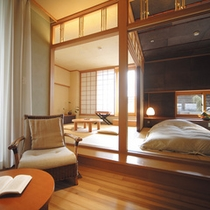 露天風呂付特別室「桜の園」