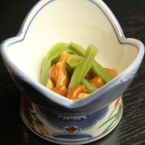 夕食_漬物・小鉢