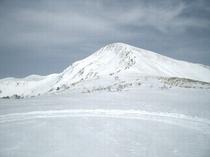 真冬の月山頂上