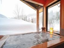 ばしょうの湯 雪景色