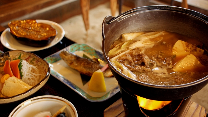 【期間限定】マタギの食文化探求!鹿肉の陶板焼き×人気No1熊鍋コラボ!《2食付》