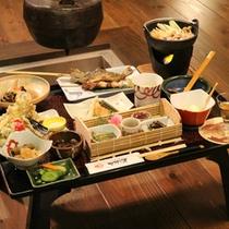 *【夕食全体例(グレードアップ)】田舎(じゃんご)料理は、+4000円でご堪能いただけます。