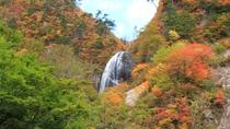 【安の滝】阿仁の自然美を代表する秀麗な2段構造の滝です。