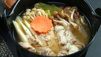 【うさぎ鍋】ジビエ好きはぜひお試あれ!やわらかく淡白でありながら野性味溢れる一品。