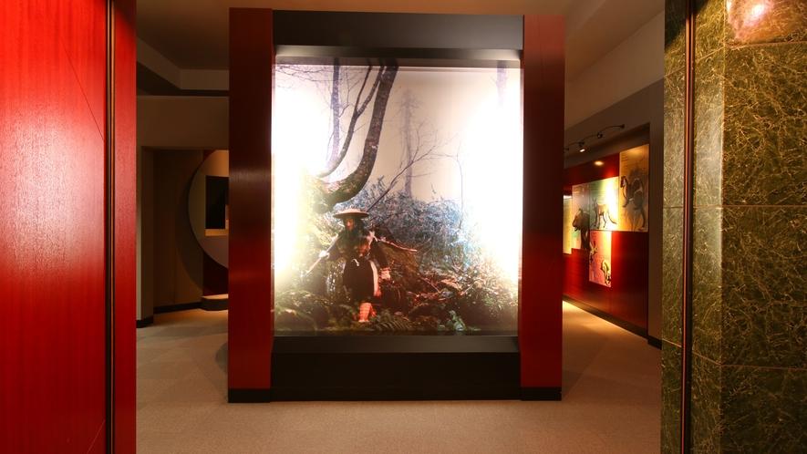 【マタギ資料館】エントランス。阿仁マタギの文化に触れる見学施設です。