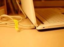 お手持ちのパソコンがあればLANケーブルをつなげてインターネットもOK。