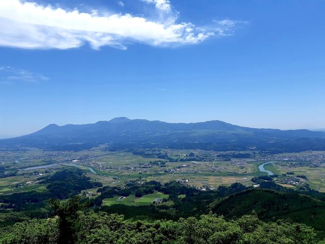 矢岳高原展望台からの眺め