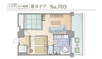【レジデンス新館】Bタイプ平面図