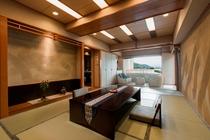 露天風呂付き和室土間リビング