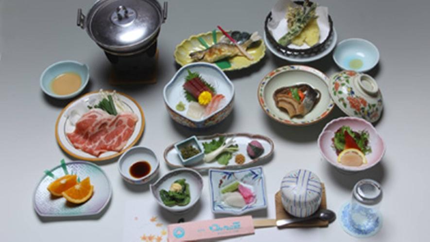 *お料理一例/お米はもちろん本場魚沼産のコシヒカリ!越後もち豚や日本海の海の幸を堪能。
