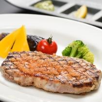 前沢牛のステーキ