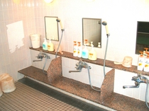 女性大浴場洗い場