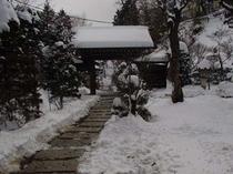 趣ある雪景色