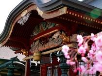 御嶽神社の春