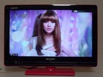 ピンクのアクオスが可愛い液晶テレビ