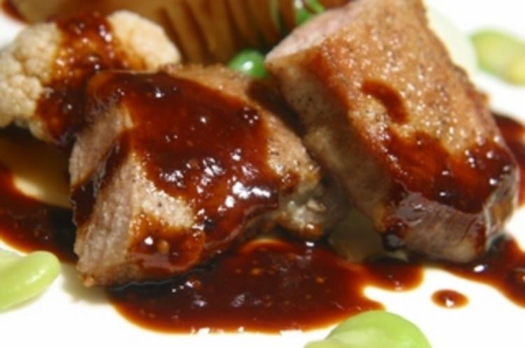 イベリコ豚のパネ エシャロットソース