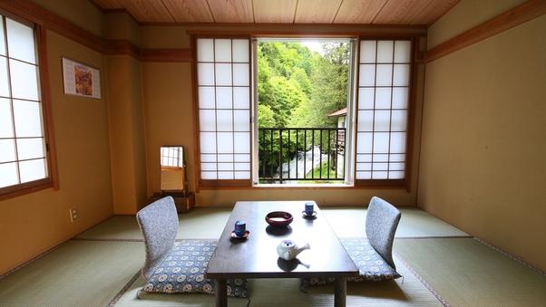 <滝と渓流を眺める>和室8畳・角部屋(禁煙)■限定1室■