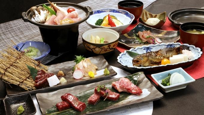 <山の宿アップグレードコース>信州の肉を味わいつくす!信州牛ほか4種の肉料理【冷蔵庫ドリンク無料】
