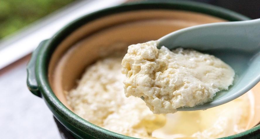 *【朝食一例】豆乳から作り上げる「汲み豆腐」