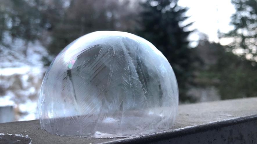 *【季節の遊び】冬限定「凍るシャボン玉」