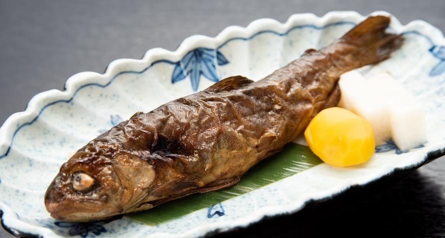 *【夕食】信州・山の恵み食べきりコース/焼きマス甘露煮(一例)
