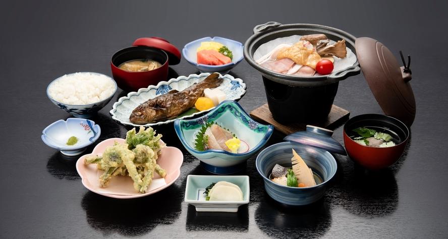 *【夕食】信州・山の恵み食べきりコース/お料理全体(一例)