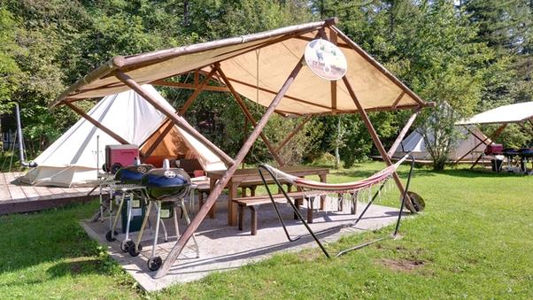 *◆貸切グランピングテント◆大型テント+BBQスペース