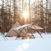 *【冬季:グランピングテント】外観