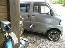 EVカー充電設備2台あります。