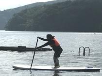 野尻湖でSUP 手配代行いたします。