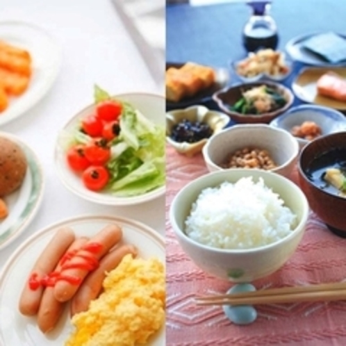 【朝食】和食でも洋食でも♪好きな物を好きなだけ。