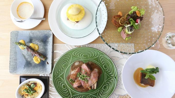 【2食付 フレンチ】信州の旬を味わう本格フランス料理<Rosee>のフルコース/貸切風呂無料