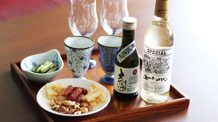 【グレードアッププラン】お好みのお酒とお肴セットをプレゼント(2名様分)